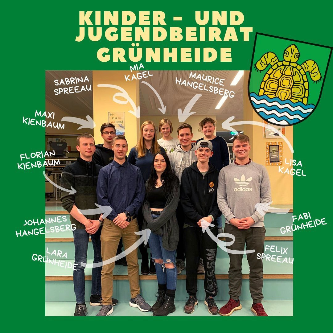 Team des Kinder- und Jugendbeirats Grünheide