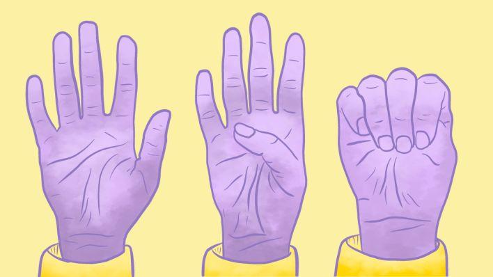 Handzeichen bei häuslicher Gewalt