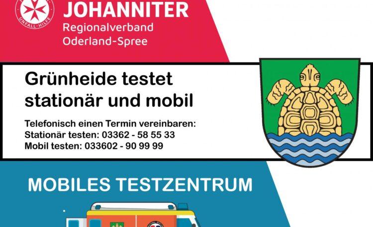 Information Testzentrum Grünheide