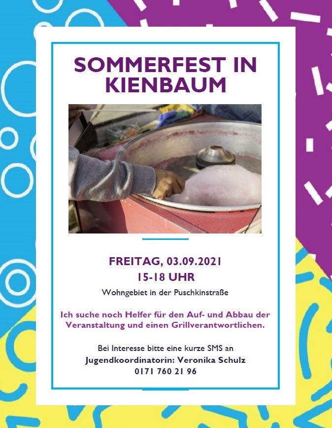 Einladung Sommerfest Kienbaum 2021