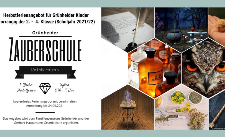 Flyer Zauberschule Herbst 2021
