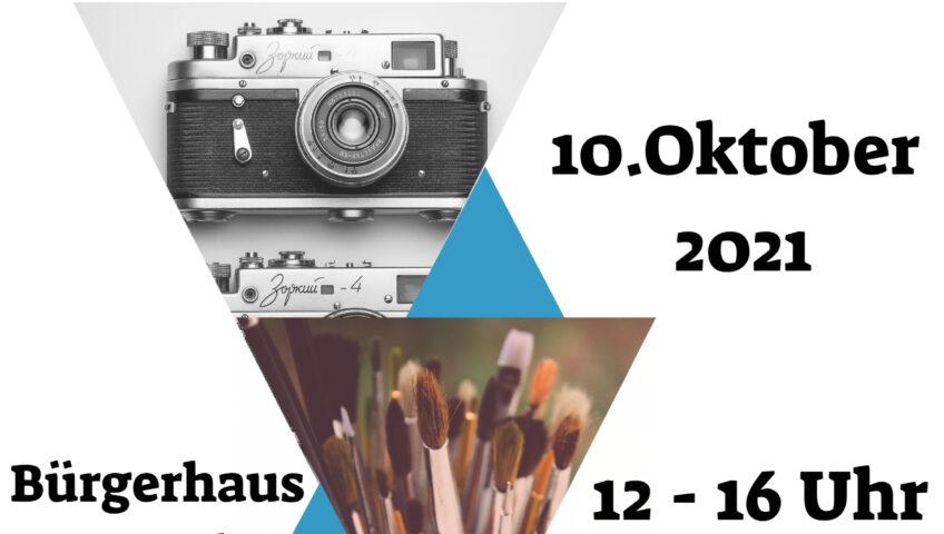 Plakat zur 2. Grünheider Kunstmesse 2021